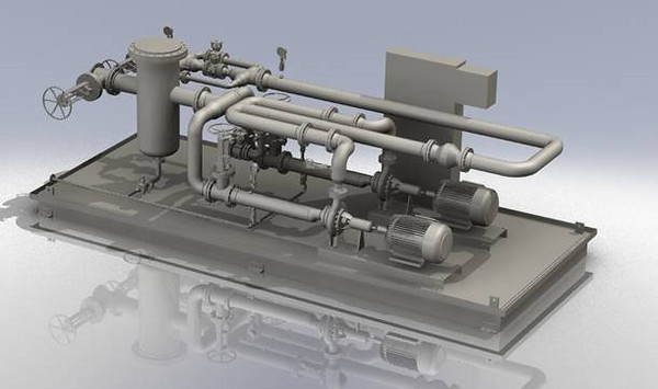 pipe pigging solution Solidworks model
